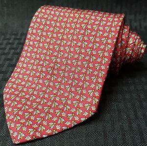 Bee Pattern Silk Beaufort Tie Rack Necktie Tie